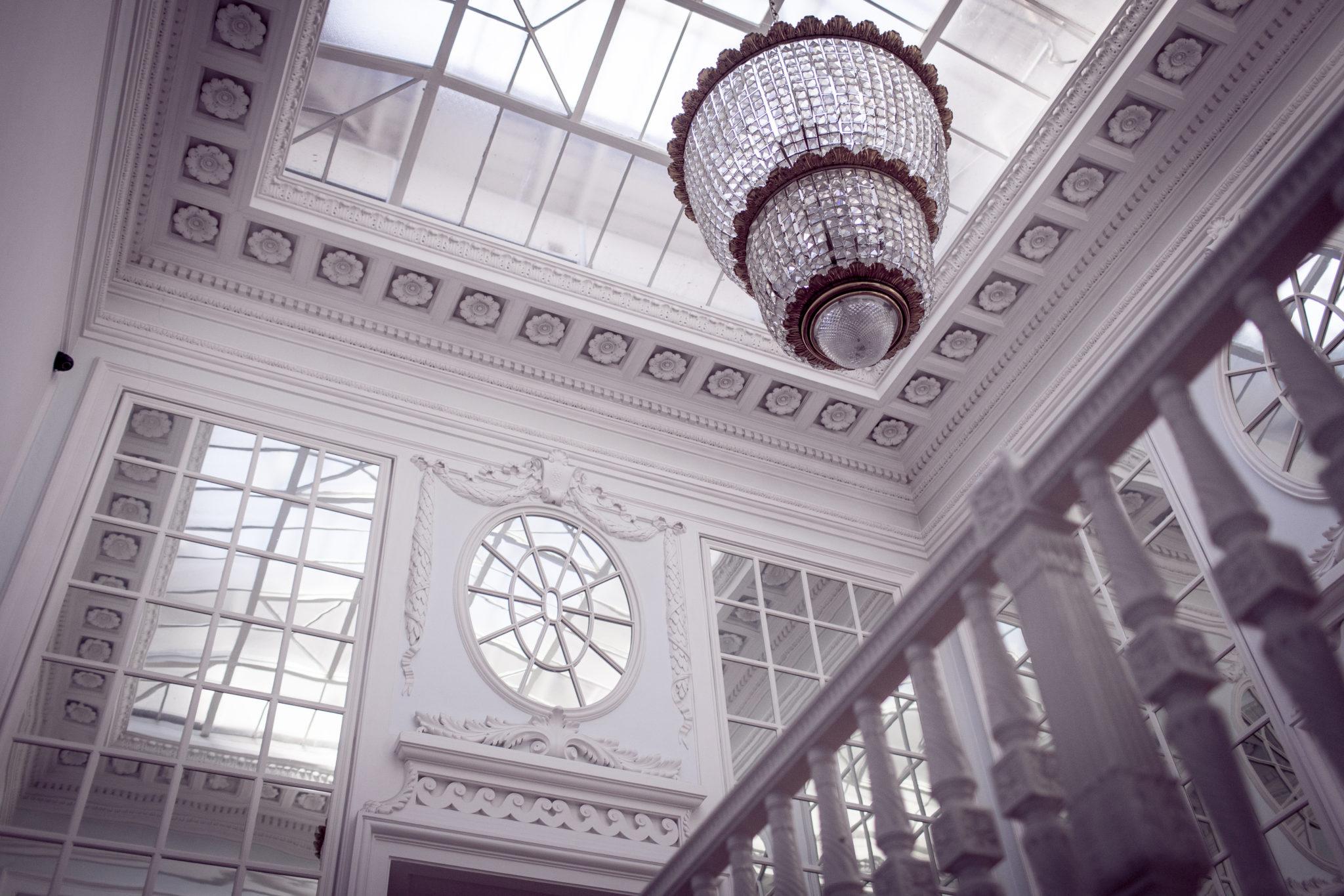 Żyrandol w Pałacu Radziwiłłów w Balicach